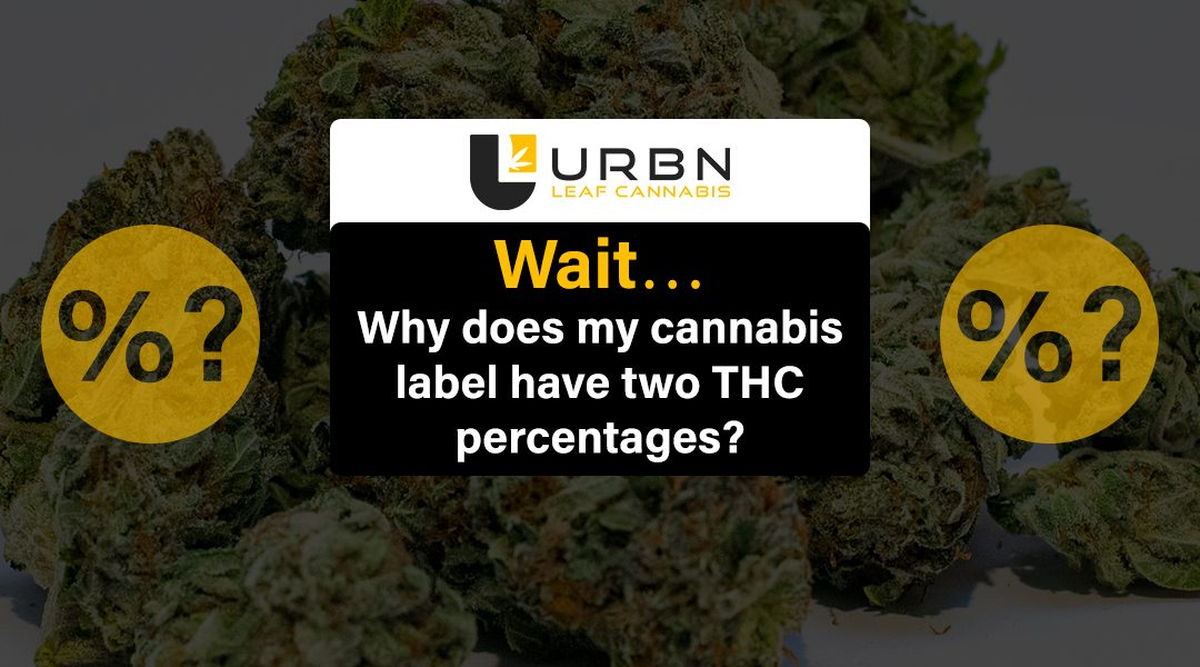 Wait…. Why does my cannabis label have two THC percentages?…..